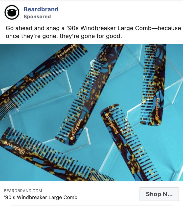 Beardbrand Facebook Ad Example