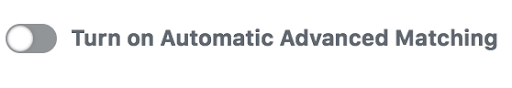 Facebook Pixel Automatic Advanced Matching options