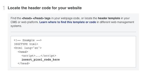 installing a Facebook pixel on your website